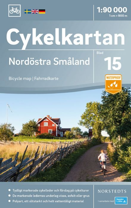 Sweden Cycling Map 15 - Smaland Northeast